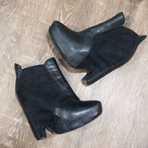 Sam Edelman Zoe black leather platform booties 6
